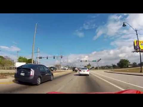 Driving down Martin Luther King Jr. Blvd in Fort Myers in a Corvette