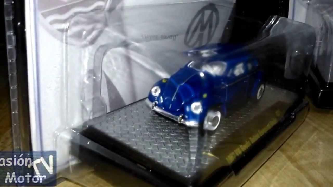 Revisión 1/64 Volkswagen Beetle (vocho) 1953, 1957 y Microbús 1960 de M2 Machines - YouTube