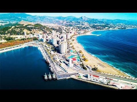MALAGA - SPAIN. Top Travel Destination in the World. DJI Mavic Drone Aerial Footage 4k.