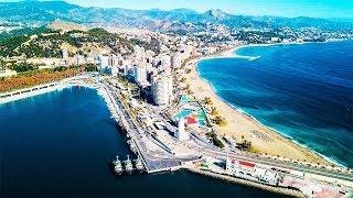 MALAGA - SPAIN. Best Vacation Spot in Europe & Best Travel Destination. DJI Mavic Pro Drone Footage.