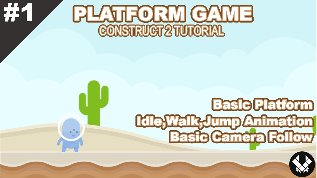 How To Create Idle Walk Jump Animation Construct 2 Tutorial Youtube