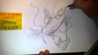 How to draw a traditional Japanese dragon tattoo