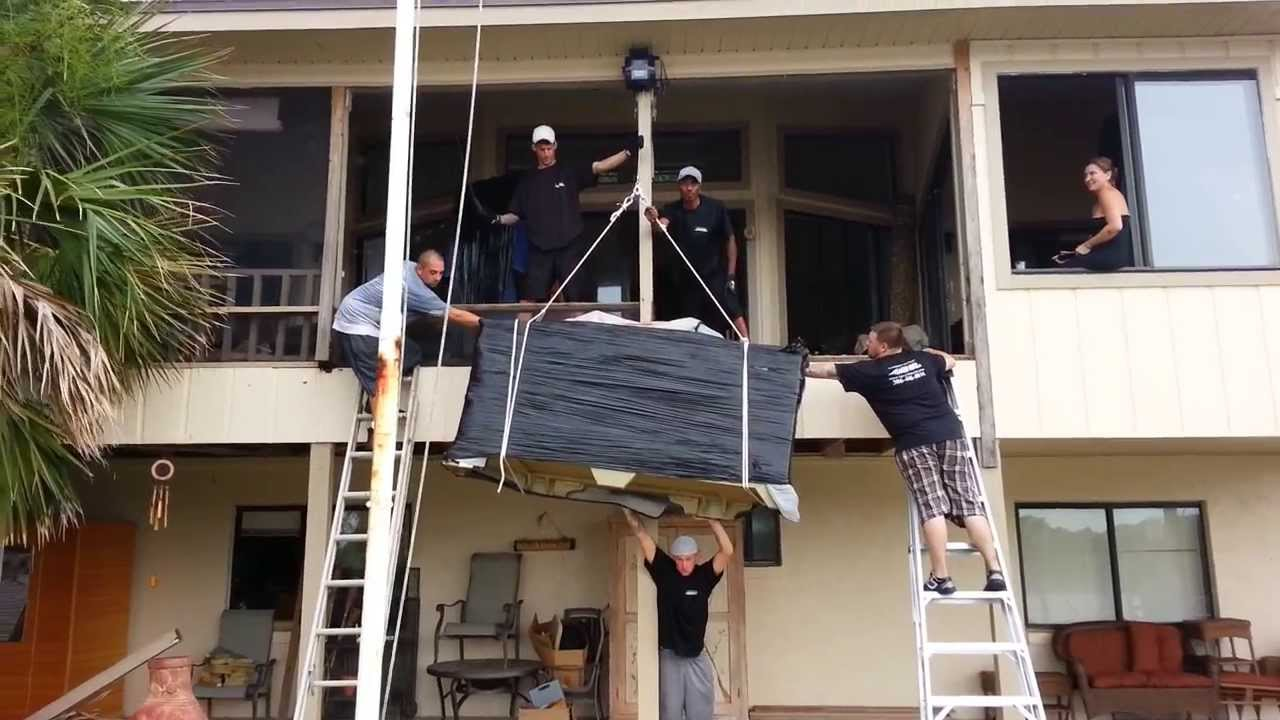 How To Hoist Furniture To The Second Floor, Flagler Movers 386 446 0014    YouTube