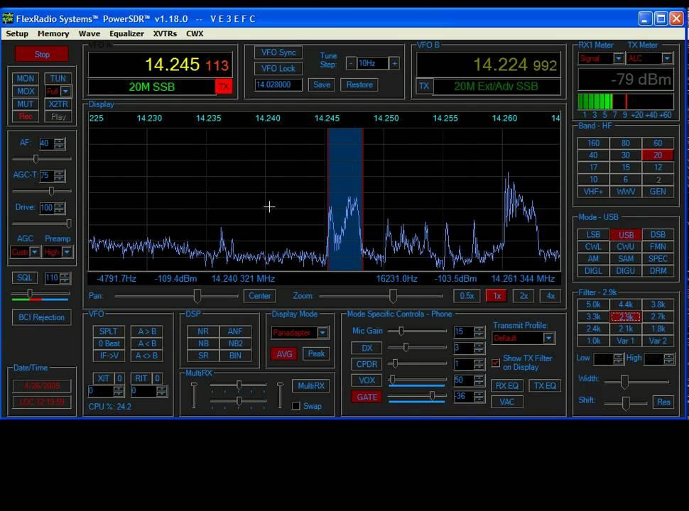Flex Radio SDR 1K Demonstration