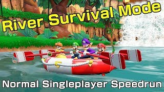 RIVER SURVIVAL - NORMAL MODE SPEEDRUN IN 12:55 (Former WR) | Super Mario Party