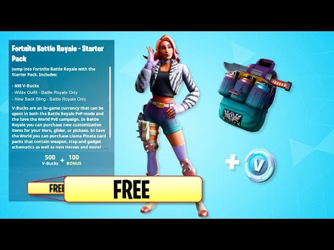 *GLITCH* THE WILDE STARTER PACK FOR FREE! IN FORTNITE BATTLE ROAYLE! (NEW SKIN FOR FREE!)