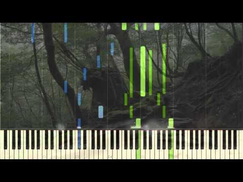 Ashitaka and San  Piano Tutorial Synthesia