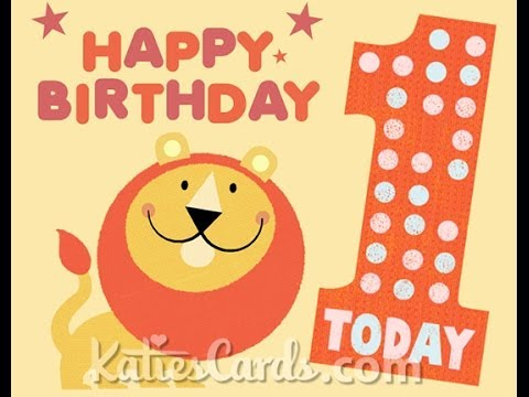 Happy 1st Birthday Lions Ecard