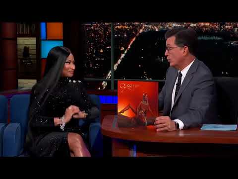 Nicki Minaj and Stephen Colbert on the QUEEN Album Cover!