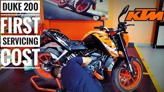 KTM DUKE 200 First Service || Servicing Cost