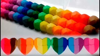 How to make Rainbow Hearts with Play doh Learn colors from Slime Toys