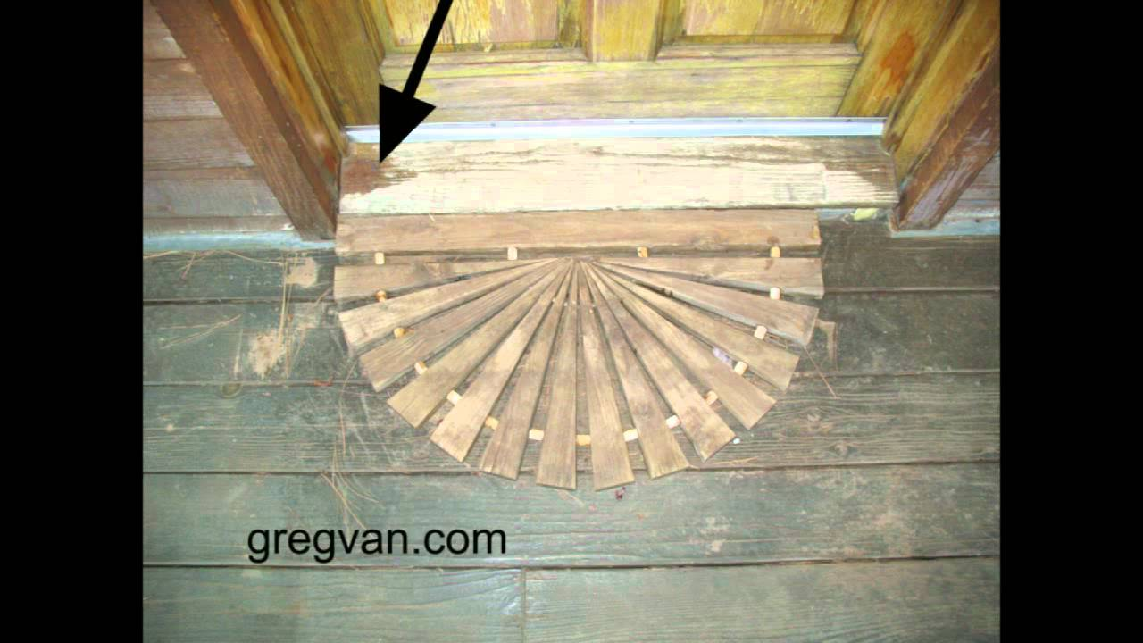 Wood Door Threshold Tips House Maintenance And Damage Youtube