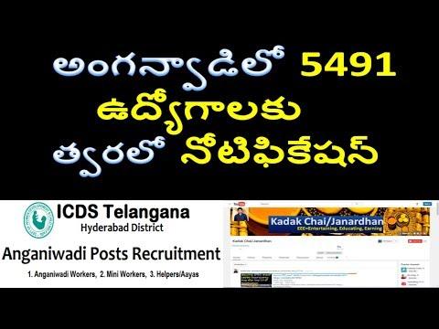తెలంగాణ అంగన్వాడీలో 10th క్లాసుతో 5491 ఉద్యోగాలు | Telangana anganwadi teacher jobs 2017 | ICDS jobs
