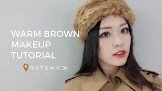 Trang Điểm Mùa Đông vs Tông Nâu Hàn Quốc | Warm Brown Makeup Tutorial | Linh Linh Makeup