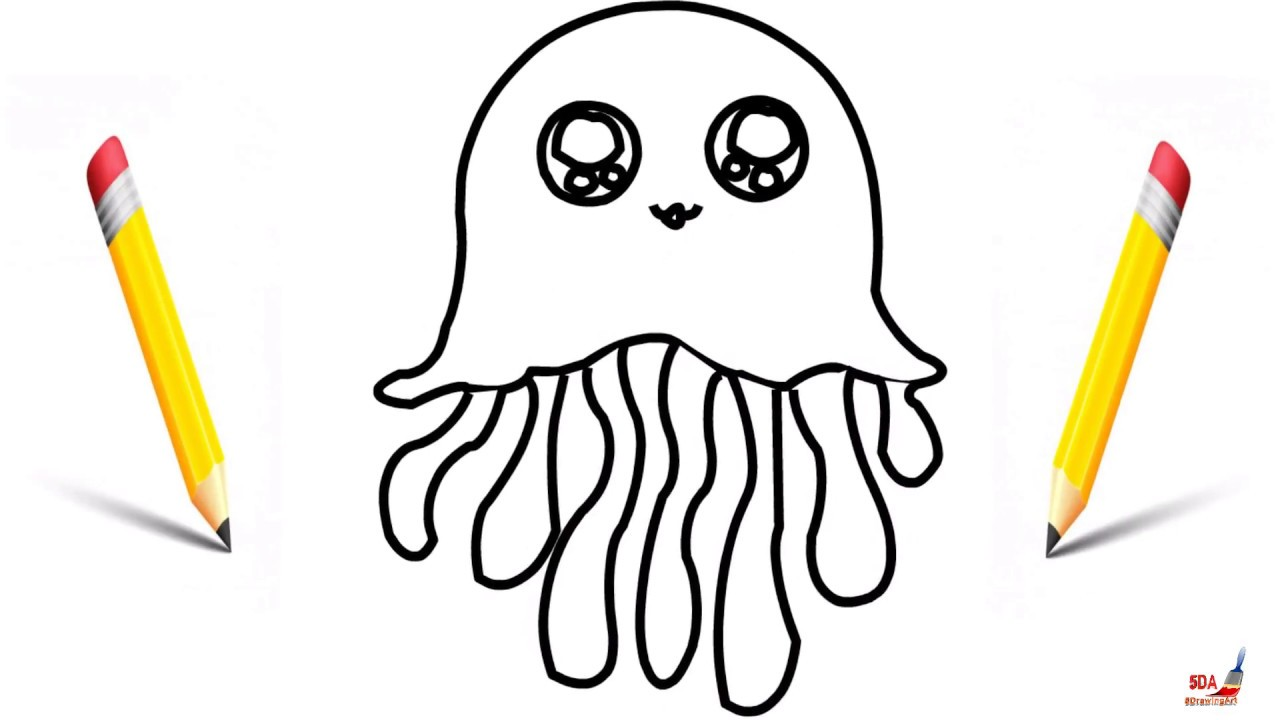 How To Draw A Jellyfish For Kids