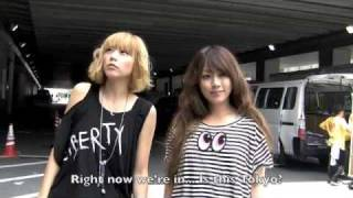 Puffy AmiYumi talk to NME.com in the production area at Summer Soni...