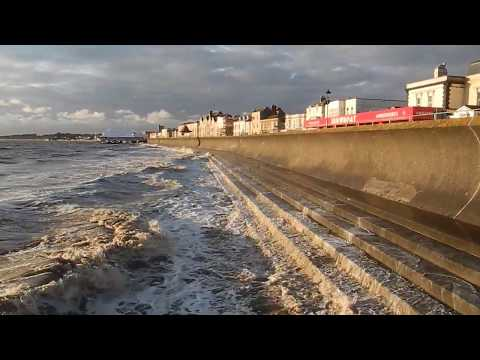 GCSE Geography: Coastal sea defences at Burnham on Sea, Somerset, England