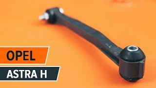 Preskúmajte, ako vyriešiť problém predné vľavo Vzpera stabilizátora OPEL: video sprievodca