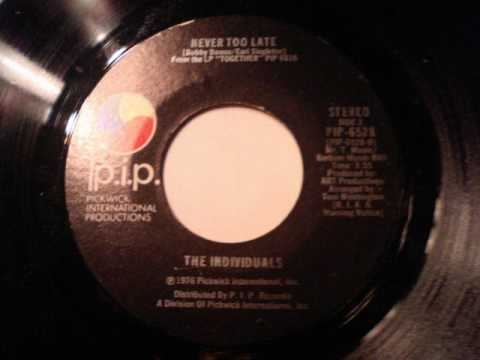THE INDIVIDUALS - NEVER TOO LATE