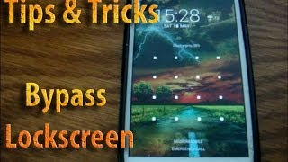 How to bypass Android Lockscreen Tips & Tricks (Rooted devices) Kitkat