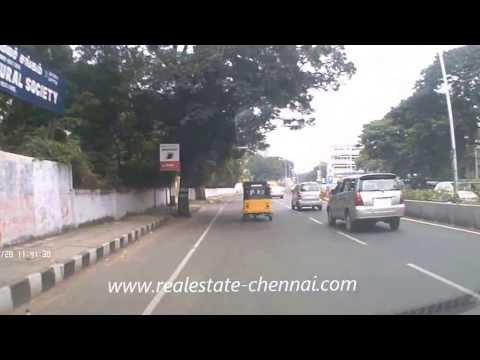 Chennai Road Tour Gemini Flyover to Marina Beach R K Salai