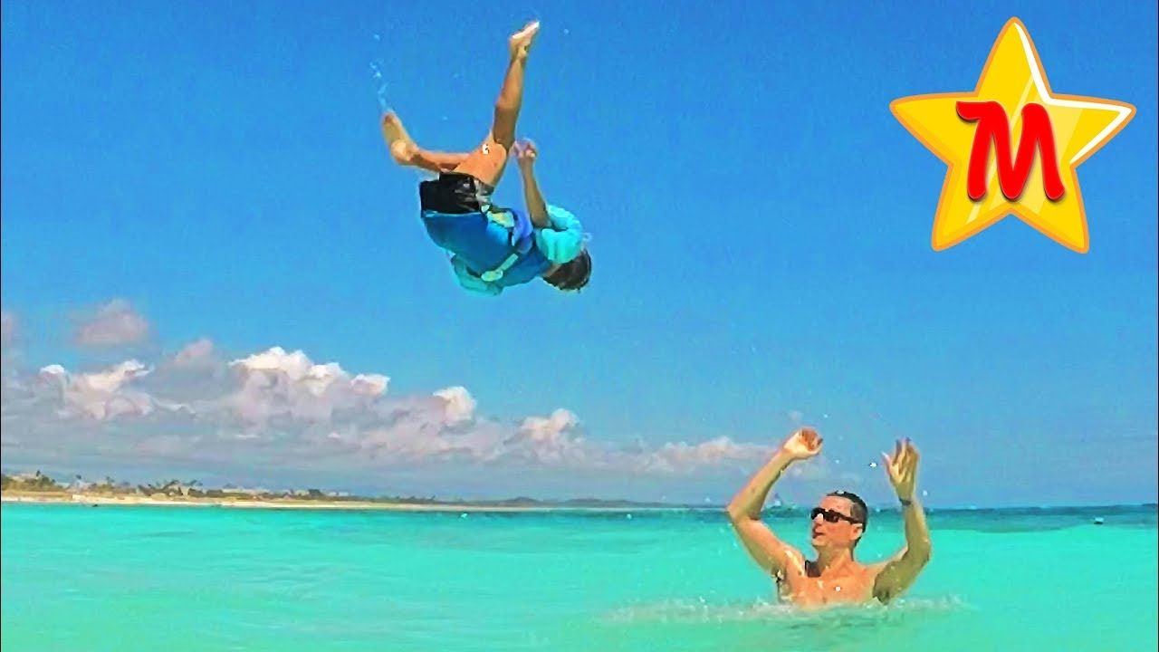 Playing with Toys Having Fun In Punta Cana Fun Adventures Family Funny Fails For Kids In Real Life