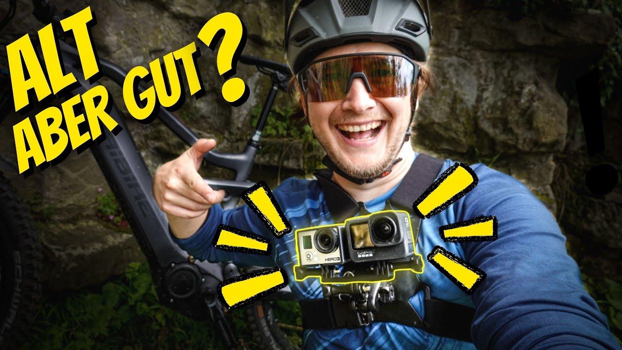 VÖLLIG UNBRAUCHBAR? 😳 Mountain Bike Trail mit URALTER GoPro   toffer