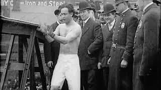 Houdini Bridge Jump with Handcuff Escape (1907)