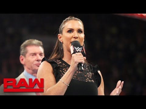 Stephanie McMahon announces WWE Evolution: Raw, July 23, 2018
