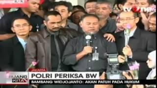 MENGHARUKAN!!! ORASI Singkat Bambang Widjojanto Di Gedung KPK Sebelum Berangkat Ke Bareskirm
