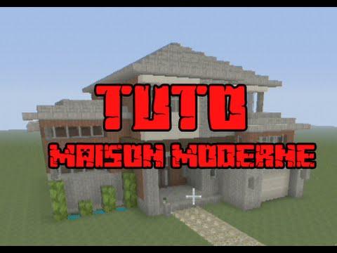 Minecraft tuto maison moderne 27 x 21 youtube for Tuto maison moderne nox x