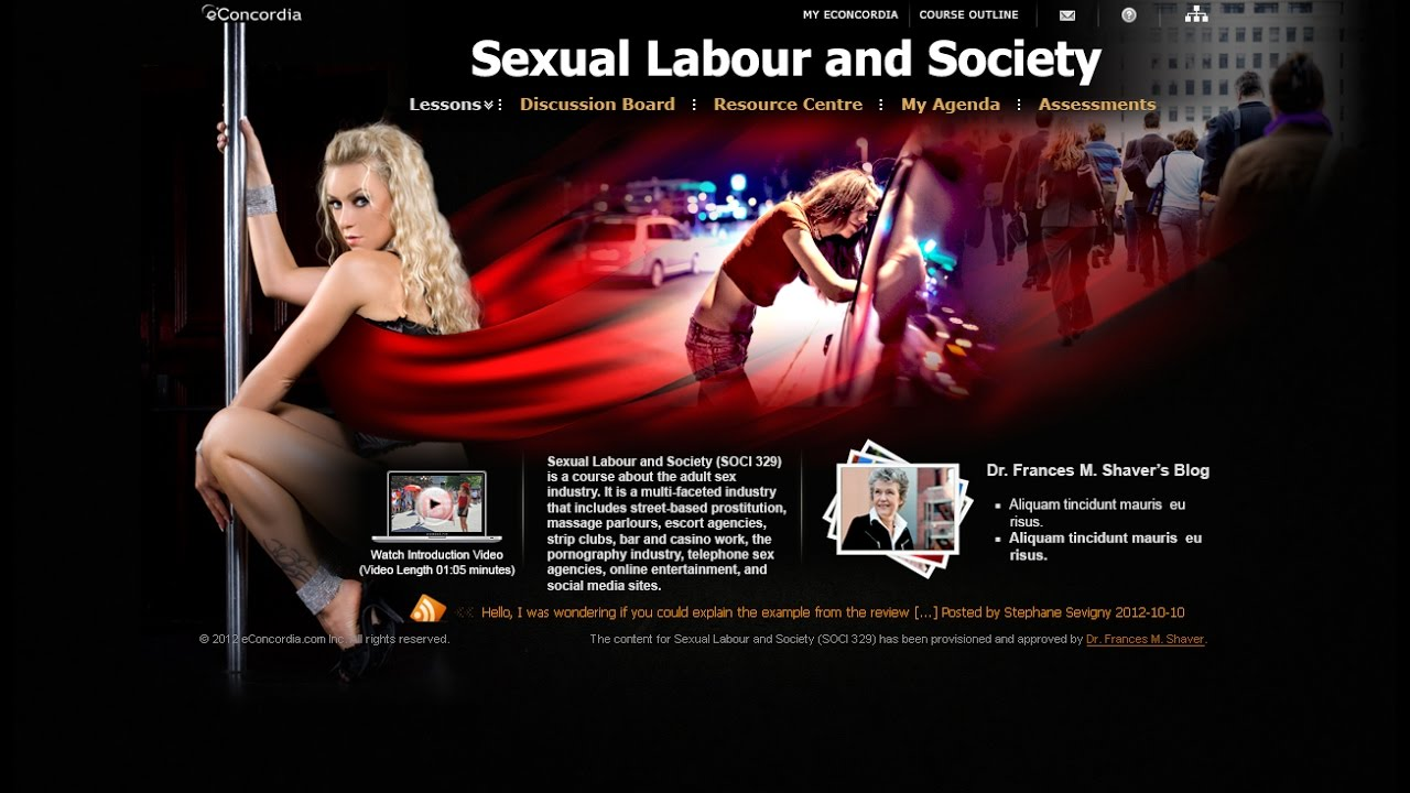 soci 329 - sexual labour and society - youtube
