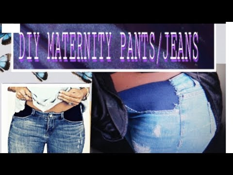 Easy DIY: HOW TO CONVERT JEANS INTO MATERNITY WEAR/ EASY DIY/e_seeds