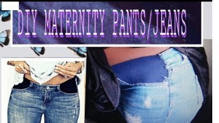 Easy DIY: HOW TO CONVERT JEANS INTO MATERNITY WEAR/ EASY DIY