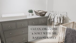 CLEAN, ORGANISE AND SORT WITH ME | BABYS NURSERY | WHAT A MESS!!