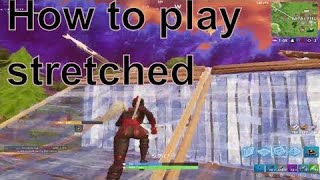 HOW TO GET STRETCHED RESOLUTION ON XBOX ONE FORTNITE BATTLE ROYAL