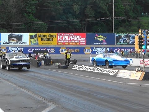 Pt2 Mid Atlantic Street Outlaws Menard Chevy QUALl#1 Maple Grove 2017