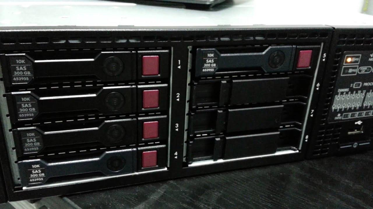 Dl380 disk slots
