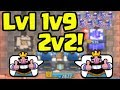 WORLD RECORD?! LEVEL 1s Facing Level 9s in 2v2 in Clash Royale!