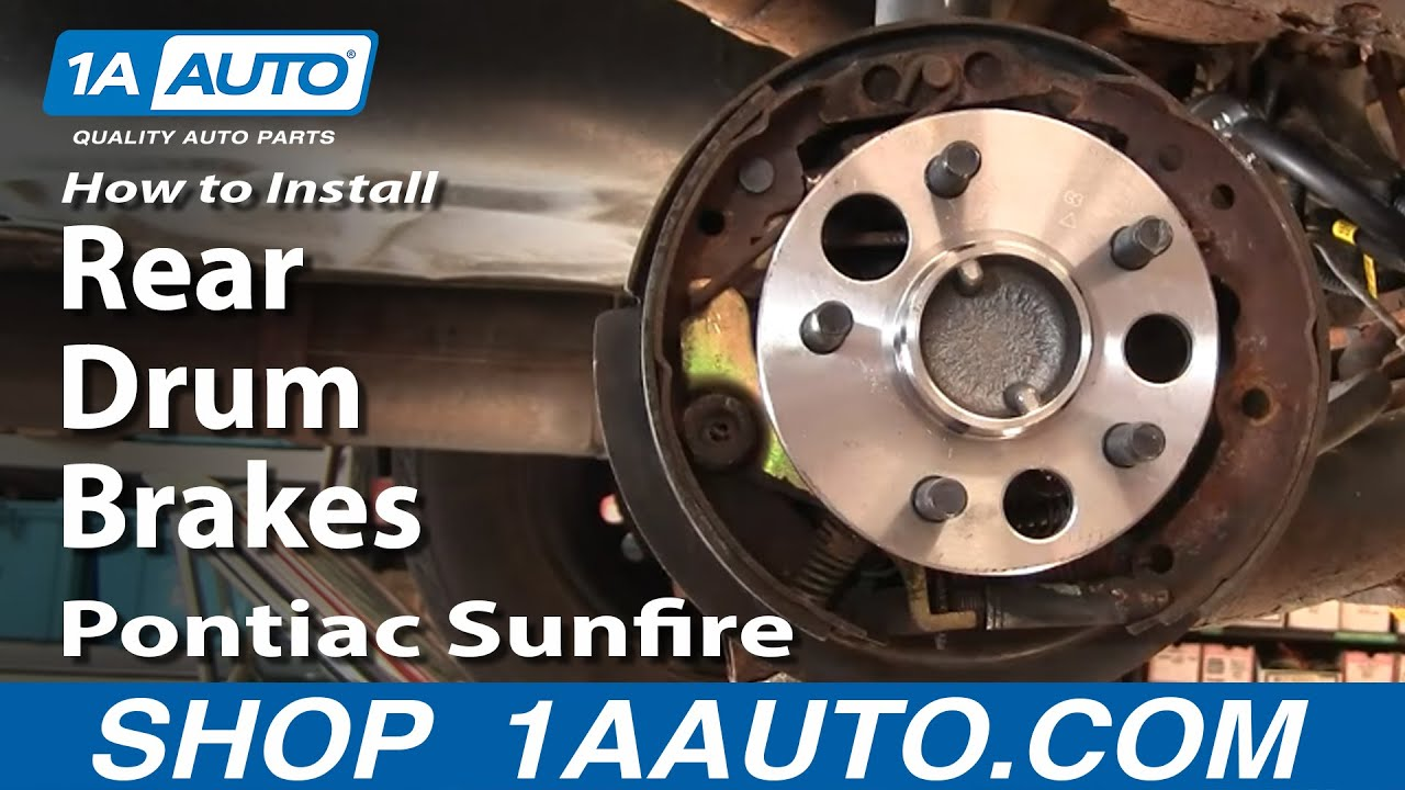 How to Replace Brake Drum 9502 Pontiac Sunfire  YouTube