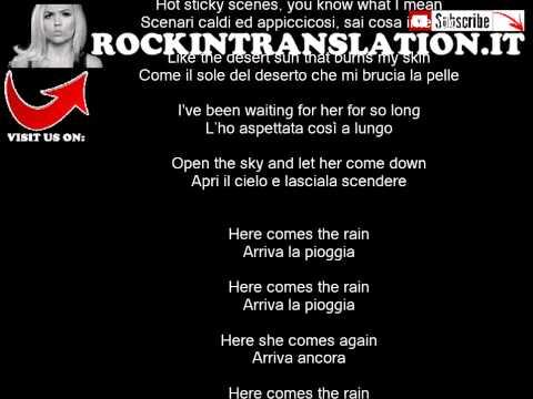 The Cult - Rain con testo e traduzione in italiano simultanea
