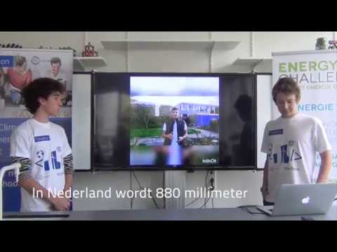 Young Climathon Utrecht - Young students present a Rain Power Plant Roof