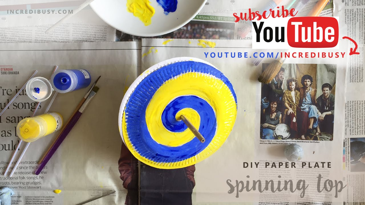 How to make a Paper Plate Spinning Top & How to make a Paper Plate Spinning Top - YouTube