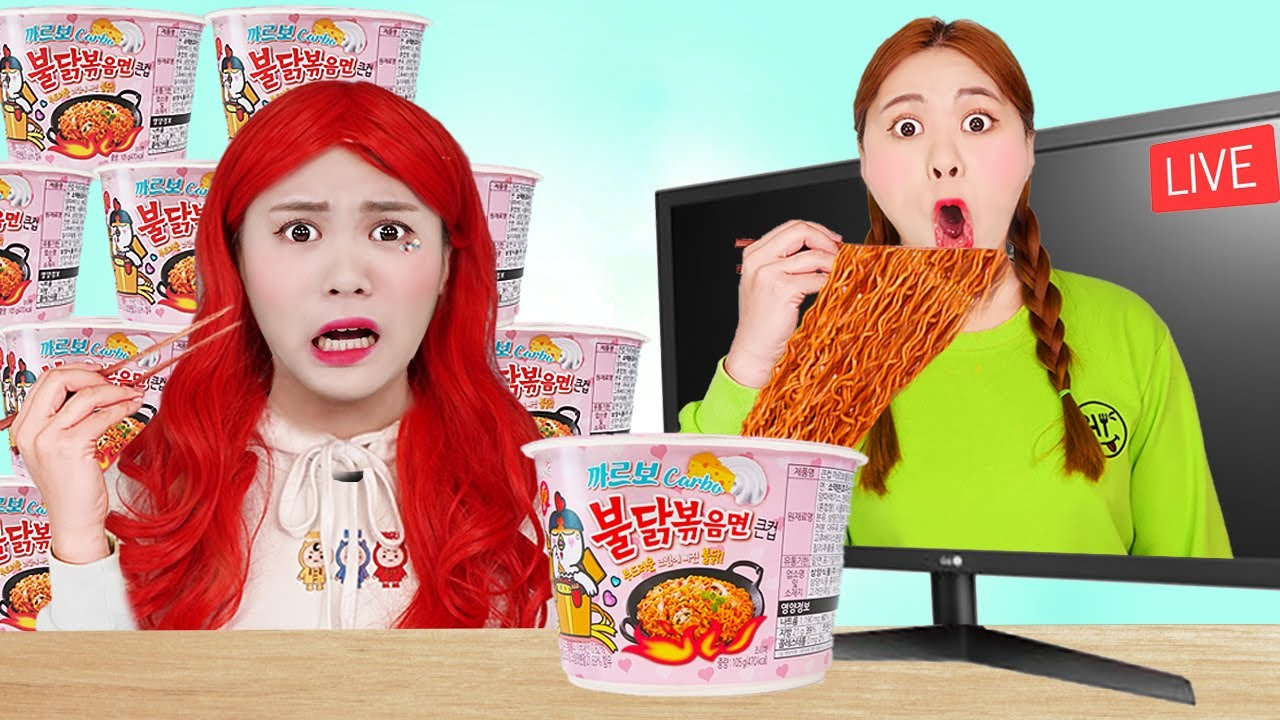 Download Mukbang Cheesy Carbo Fire Spicy Noodle Challenge by HIU 하이유