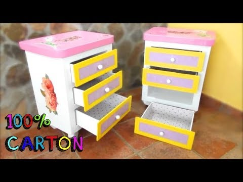 bedside-tables-made-with-cardboard,-easy-and-inexpensive-crafts
