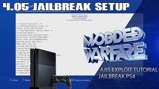 Full PS4 4.05 Jailbreak Setup Tutorial