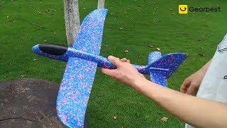 35CM DIY Hand Throw Flying Glider Planes Toys For Children Foam Aeroplane Model Gearbest.com