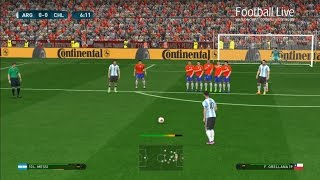 PES 2017 | Argentina vs Chile | Full Match & Lionel Messi Free Kick Goal | Gameplay PC