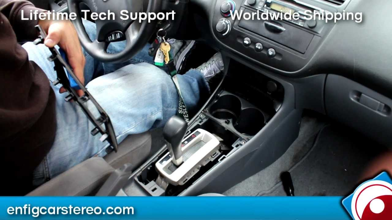 honda civic 00 05 aux audio input installation for ipod iphone android youtube