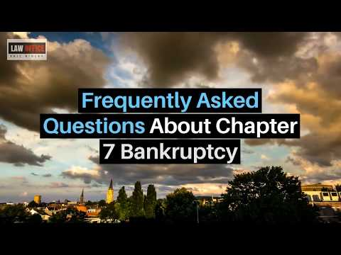 Frequently Asked Questions About Chapter 7 Bankruptcy Ventura Bankruptcy Lawyer